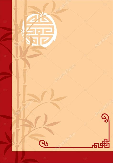 vector oriental chinese template cover invitation blank