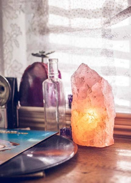 rough rose quartz lamp  soulmakes