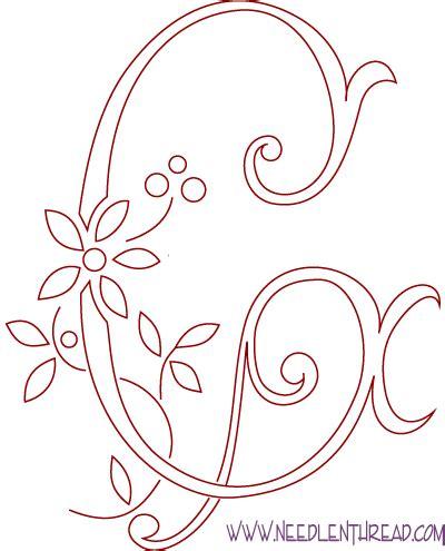 monogram  hand embroidery letter  needlenthreadcom