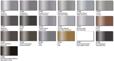 metal colors vallejo metal colors 15 colors to from paint model