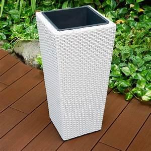 Pflanzkübel Weiß Rattan : blumenk bel h64cm wei blumentopf pflanzk bel planzen k bel rattan ebay ~ Indierocktalk.com Haus und Dekorationen