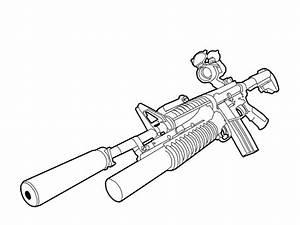 M4A1 + SD + Red Scope + M203 by windcake on DeviantArt