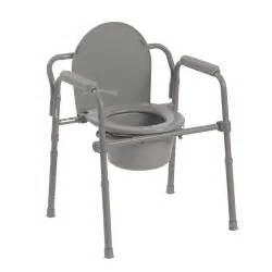 folding steel bedside commode toilet seat senior citizen bathroom safety chair ebay