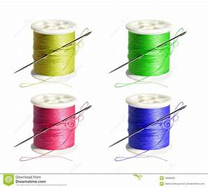 Spool Of Thread With A Needle Royalty Free Stock Photo