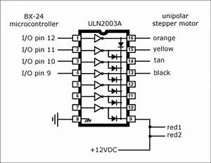 jason babcock unipolar stepper motor With uln2004 datasheet