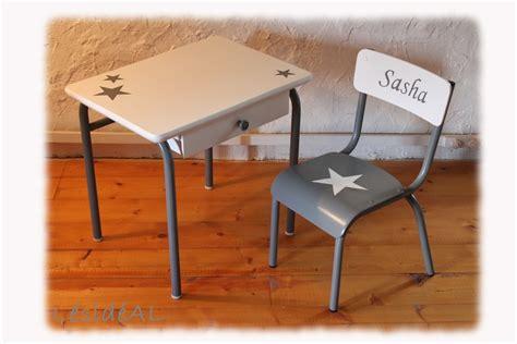 ensemble de bureau ensemble bureau chaise d 39 écolier enfant vintage gris blanc