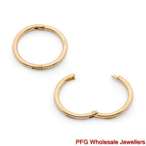 What Is A Sleeper Earring by New 375 9ct Yellow Gold Solid Sleeper Hinged Hoop Non