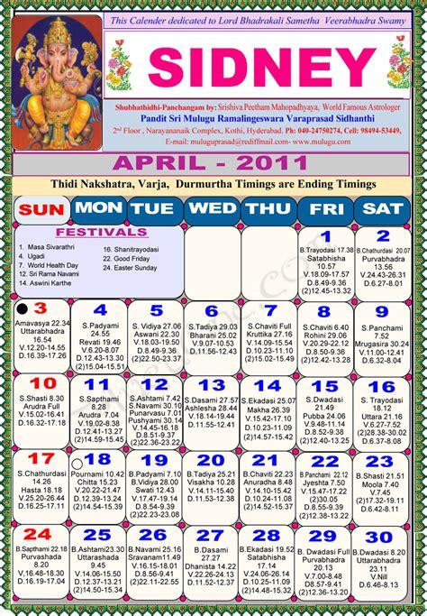 foto de Sydney Telugu Calendar 2011 Astrology Online horoscope