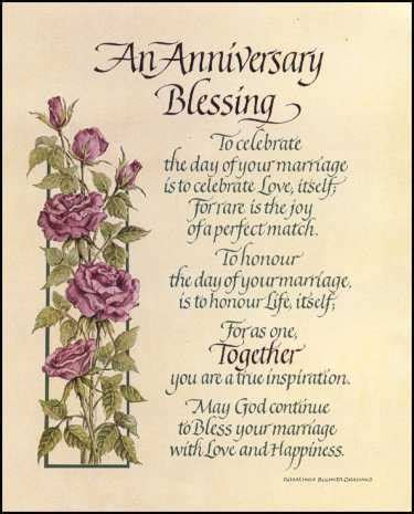 anniversary blessing prints size