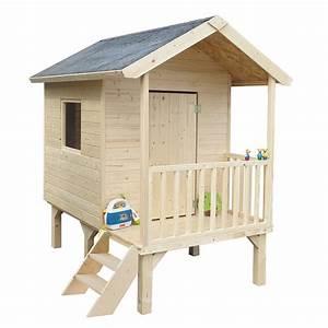 Maisonnette En Bois Sur Pilotis : maisonnette enfant bois kangourou sur pilotis l167 x p181 ~ Dailycaller-alerts.com Idées de Décoration