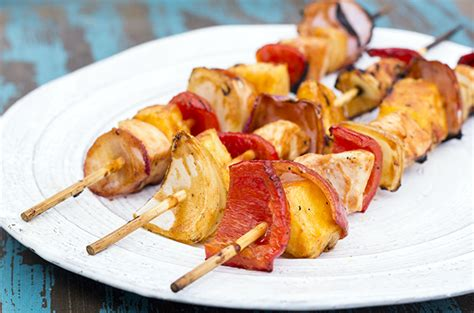 healthy  yummy ready  grill barbecue chicken kebabs