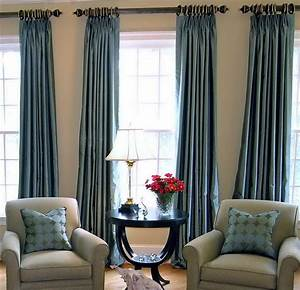 Window curtain designs a creative mom for Creative of blue curtains living room