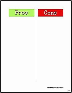 Pro And Cons Template | Motavera.com