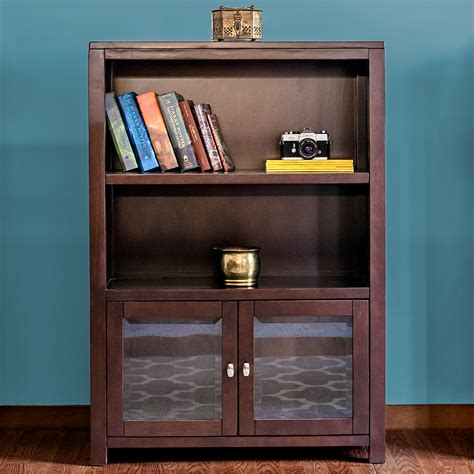 And Bookshelf by Pacifica 47 Quot Bookshelf With Glass Doors Epoch Design
