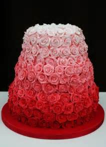 wedding cake with roses ombre pink roses cake a wedding cake