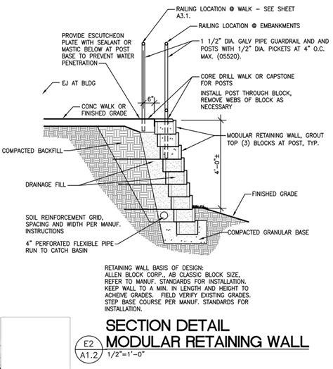 brick retaining wall detail architectural details architekwiki