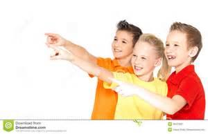 Children Pointing Finger