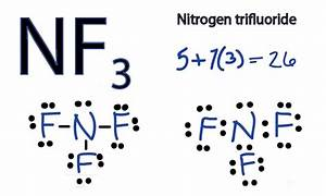 NF3 Lewis Structure - How to Draw the Dot Structure for ...