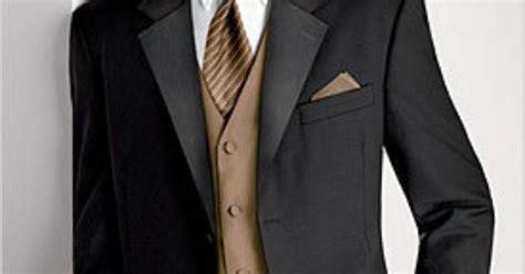 Black Suit With Tan Vest And Tie. #wedding