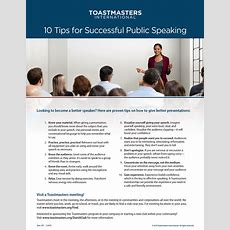 10 Tips For Successful Public Speaking (set Of 10