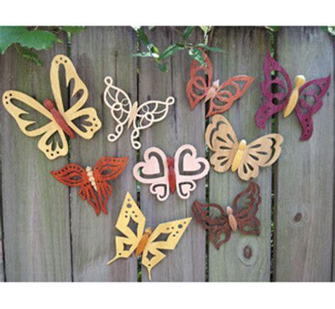 yard art woodcraft plans set   butterfly sun catcher