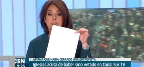 Contundente Respuesta De Canal Sur A Pablo Iglesias