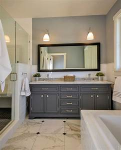 Carrara marble vanity top bathroom transitional with for Carrara marble bathroom vanity