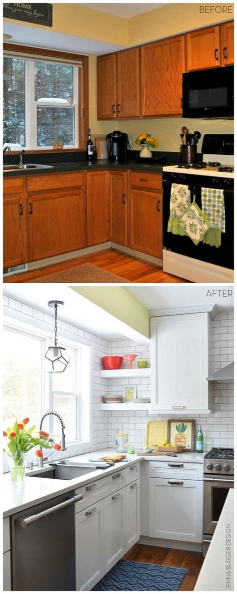 kitchen tile makeover pretty before and after kitchen makeovers 3264