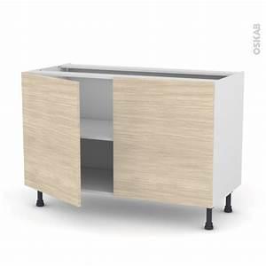 meuble de cuisine bas stilo noyer blanchi 2 portes l120 x With meuble cuisine bas 120 cm 14 cuisine siena