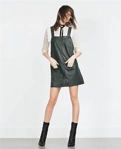 Salopette en similicuir tout voir robes femme zara for Robe salopette femme