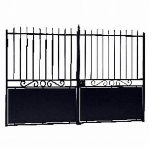 Portail En Fer Lapeyre : portail battant acier batignolles sans festonnage ext rieur ~ Premium-room.com Idées de Décoration