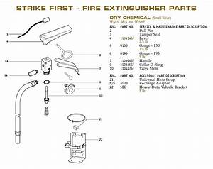 Brooks 110414sf Strike First Fire Extinguisher Parts