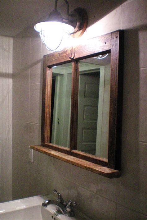 Rustic Bathroom Mirror With Shelf  Best Decor Things