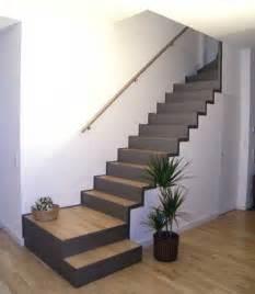 treppe stahl treppe mit integriertem abstellraum