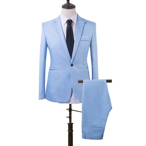 men039s business suit fashion s formal prom one button wedding groom fashion