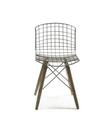 chaise en fil scoubidou chaise design fil de fer et pieds en bois wadiga com