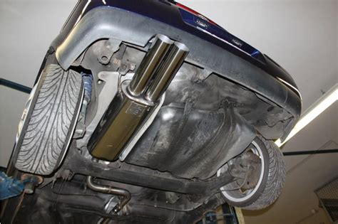 golf 4 sportauspuff fox sportauspuff f 252 r volkswagen vw golf 4 cabrio 2x76mm