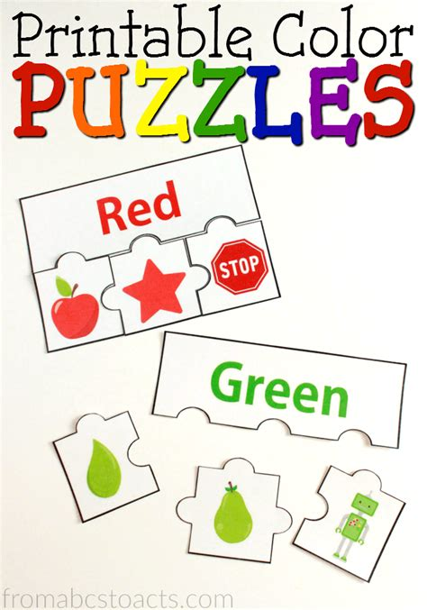 color preschool theme printable color puzzles from abcs to acts 712