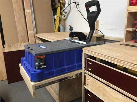 kreg foreman   sliding platform  miter workstation