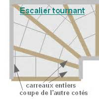 Pose Carrelage Escalier Tournant by Schema Pose Carrelage Escalier Tournant