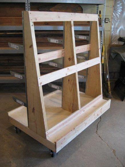sheet goods  wood storage cart cool garage ideas
