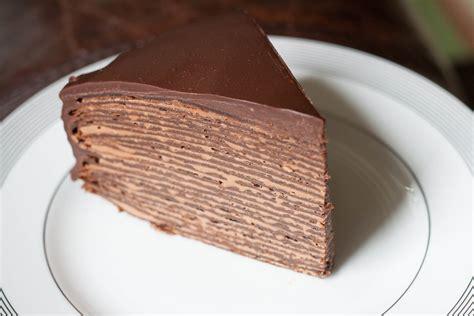 chocolate hazelnut crepes cake