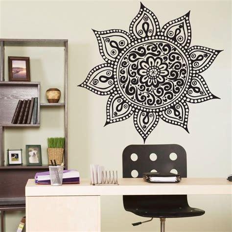 home decor stickers wall mandala om indian buddha symbol mehndi vinyl wall decal home decor wall sticker in wall