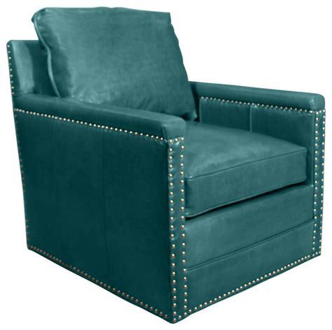 avis st clair peacock blue leather swivel chair peacock