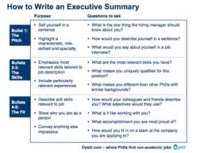 How To Write Resume Executive Summary by The Most Important Thing On Your Resume The Executive