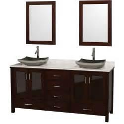 lucy 72 quot double bathroom vanity set with vessel sinks