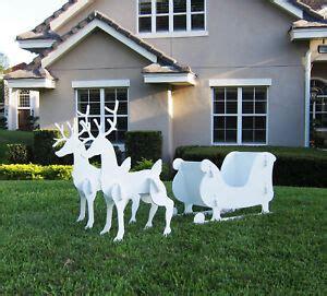 outdoor santa sleigh and 2 reindeer set