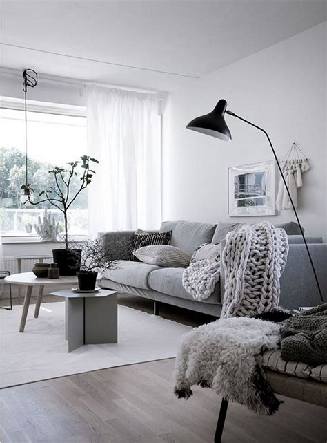 99 Beautiful White and Grey Living Room Interior
