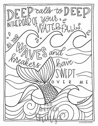 Coloring Bible Pages Verse Psalm Printable Activity