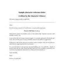 Sample Character Reference Letter for Court Templates